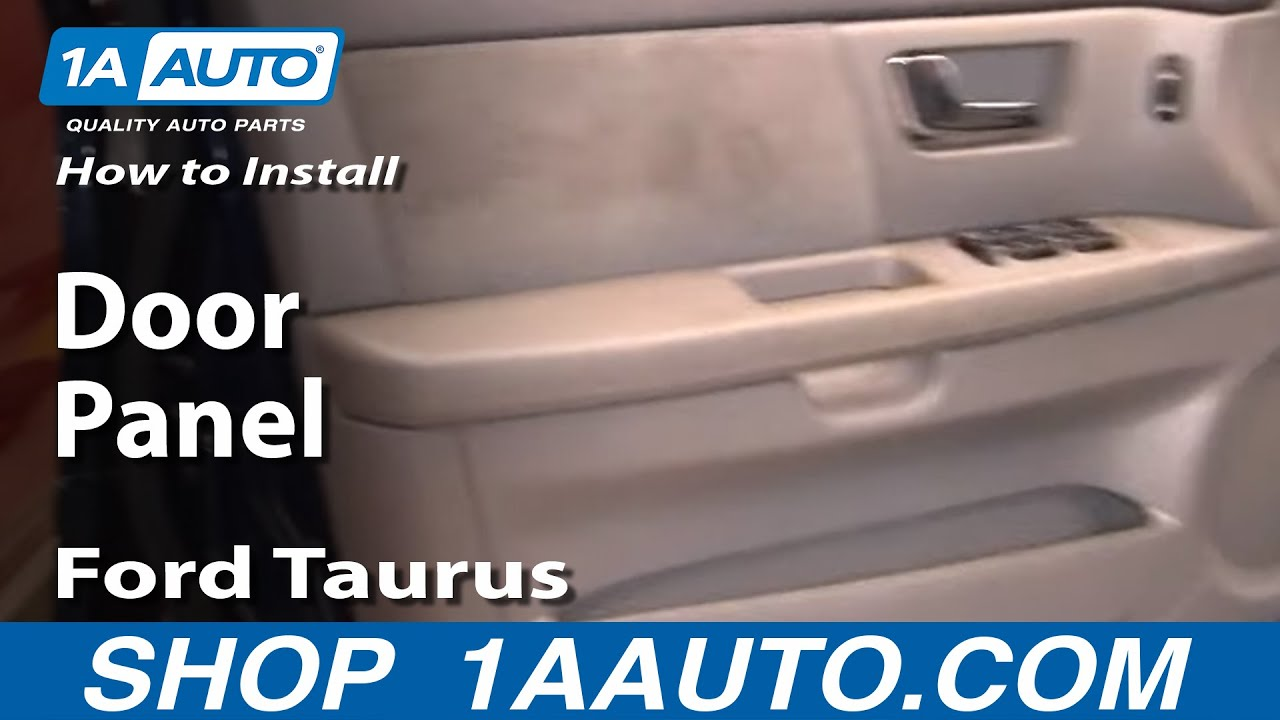 How To Remove Door Panel 00 07 Ford Taurus Youtube