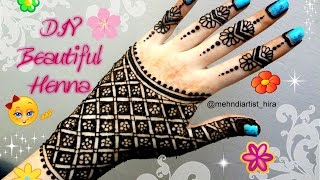 diy best and beautiful henna mehndi hand glove style tutorial for eid weddings etc