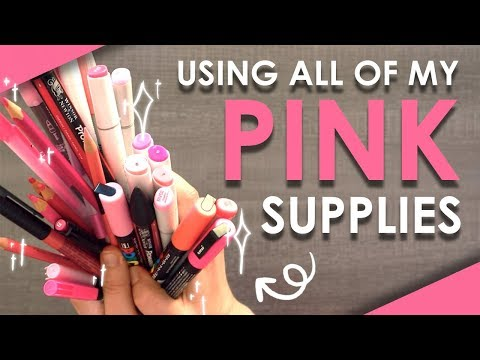 over-40-pink-art-supplies---can-i-make-art-with-this?!
