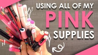 OVER 40 PINK ART SUPPLIES - Can I Make Art With This?!