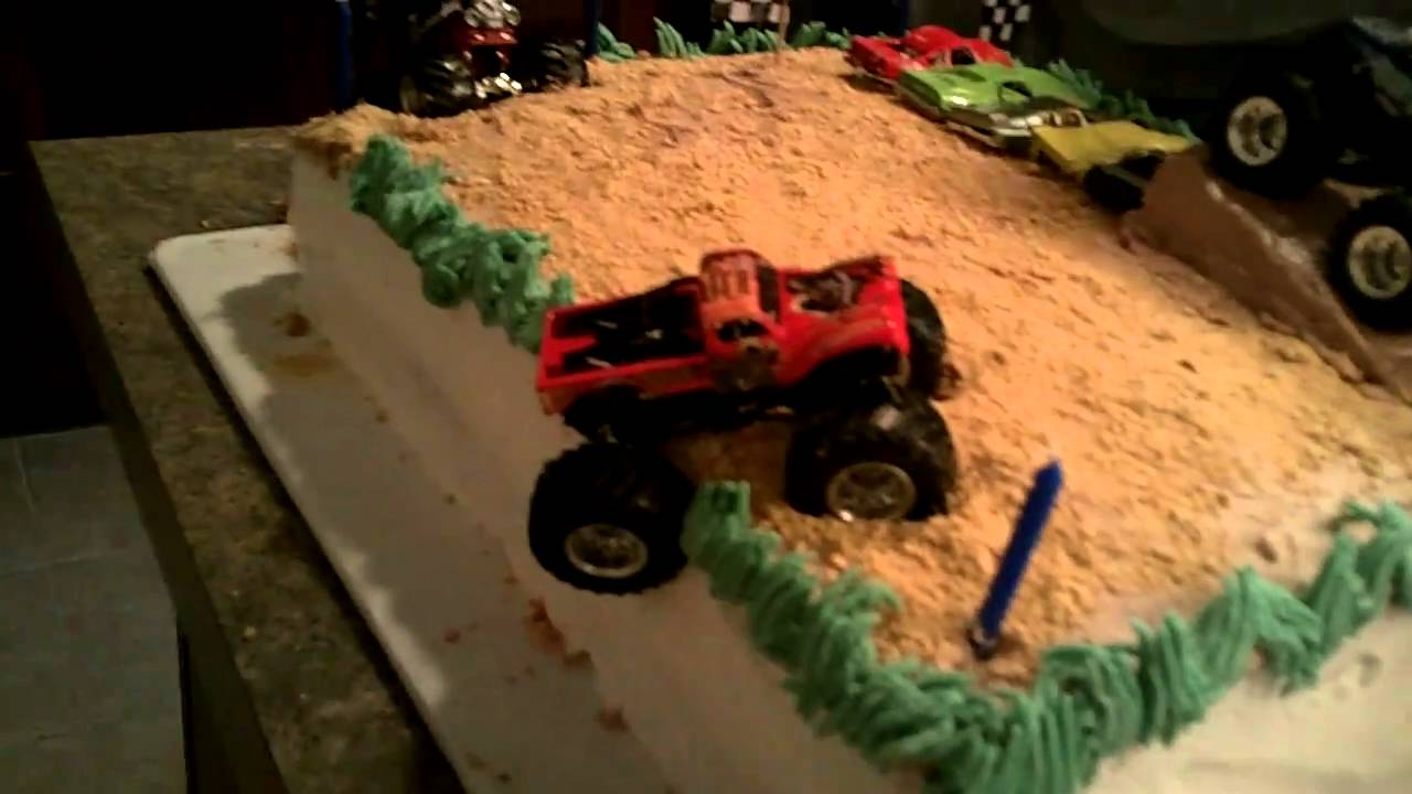 Monster Truck Birthday Cake Blakes 5th bday YouTube