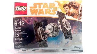 NEW LEGO Star Wars 30381 Imperial Tie Fighter Review!   Han Solo Movie 2018 Polybag!
