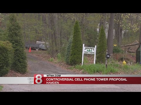 Hearing on controversial cell phone tower on Hamden Christmas tree farm - Dauer: 96 Sekunden