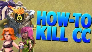 Clash Of Clans How To Lure Out And Kill Enemy Clan Castle Troops