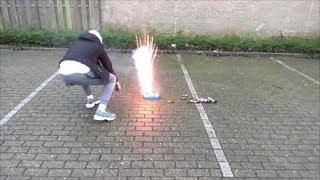 homemade cake knalt bijna tegen HOOFD! Vuurwerk/Fireworks