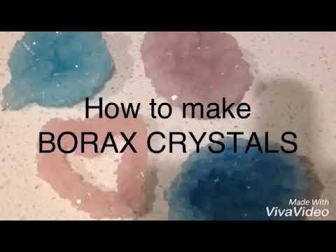How to make homemade borax crystals!