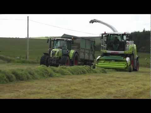 """Cornish Farmers & Contractors Mark Andrews Ltd silage 2012 on the moor """"part2"""""""