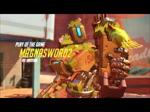 THE SCUMMIEST BASTION PLAY OF THE GAME EVER! (Overwatch)