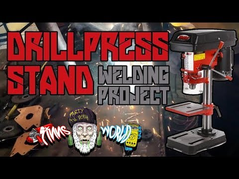 Scrap Metal Drill Press Stand | Home Welding Practice project