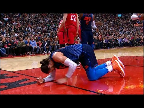 Steven Adams Gets Hit in the Groin | Thunder vs Raptors | March 18, 2018 | 2017-18 NBA Season