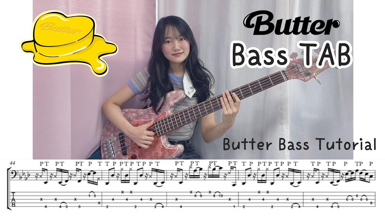 BTS - Butter Bass TAB [Bass Tutorial]