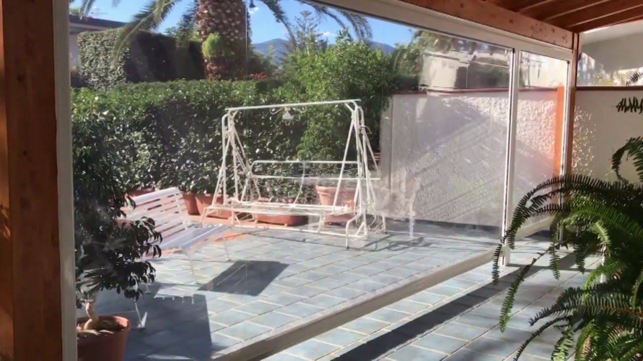 Costo Veranda In Pvc arquati skipper 500 - chiusura verticale in pvc - youtube