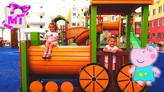 Гиппо #Пеппа ПРИКЛЮЧЕНИЯ на детской площадке Новый Мультик ИГРА 2017 Видео для детей / Hippo Peppa