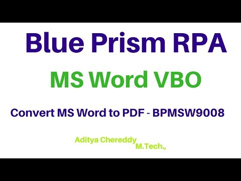 Repeat BluePrism RPA - MS Word VBO - Get Highlighted Text