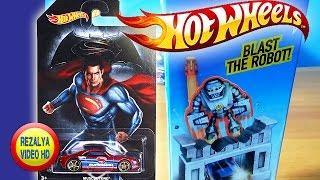 Mainan Mobil Mobilan | Hot Wheels Superman & Blast The Robot  Robo Wrecker