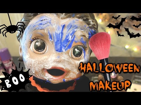 BABY ALIVE has a HALLOWEEN MAKEUP CHALLENGE! The Lilly and Mommy Show. The TOYTASTIC Sisters.