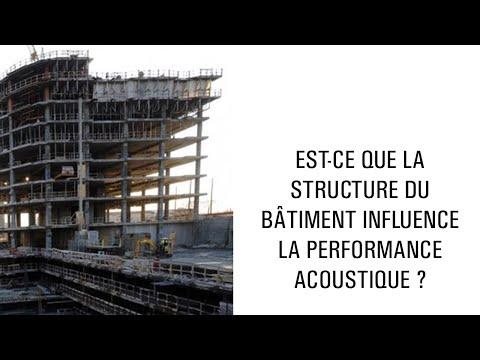 Est-ce que la structure du bâtiment influence la performance acoustique ?