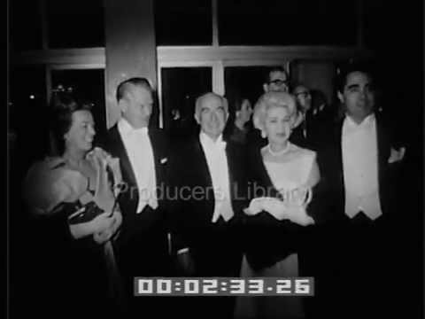 Rock Hudson and Marilyn Maxwell attending California Music Center opening, 1964