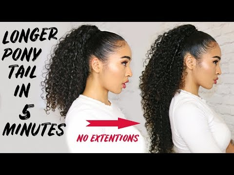 LONGER PONYTAIL IN 5 MINUTES - NO EXTENSIONS! NO TRICKS! Lana Summer
