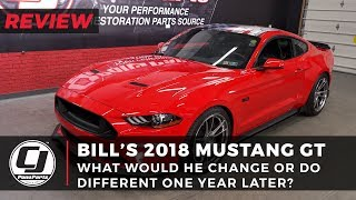 One year later, Bill reviews his 2018 Mustang GT