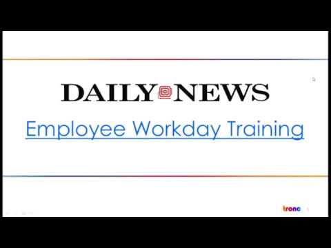 New York Daily News Workday Training