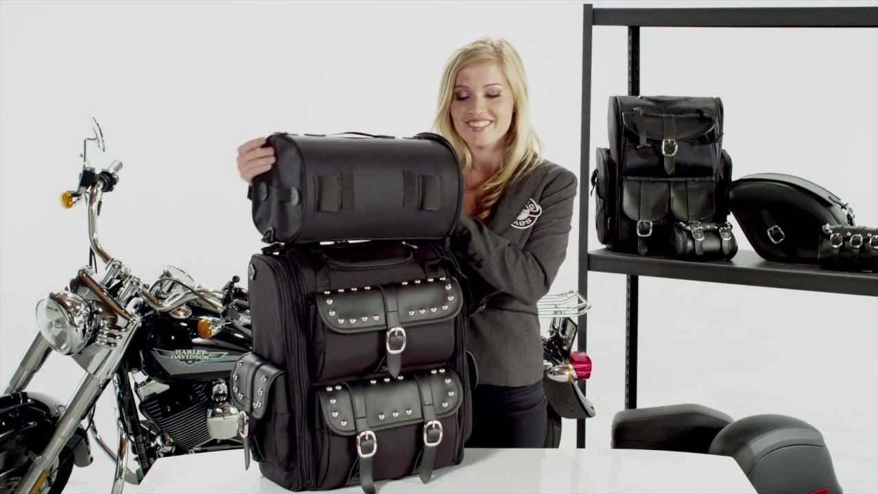 Viking Large Studded Leather Motorcycle Sissy Bar Bag Review Vikingbags You