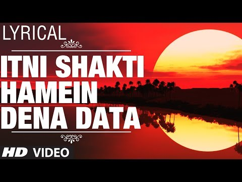 Itni Shakti Hamein Dena Data Full Video with Lyrics | Ankush | Nana Patekar