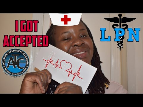 I got my  accepted letter for  nursing school | Atlantic technical college | accepted letters