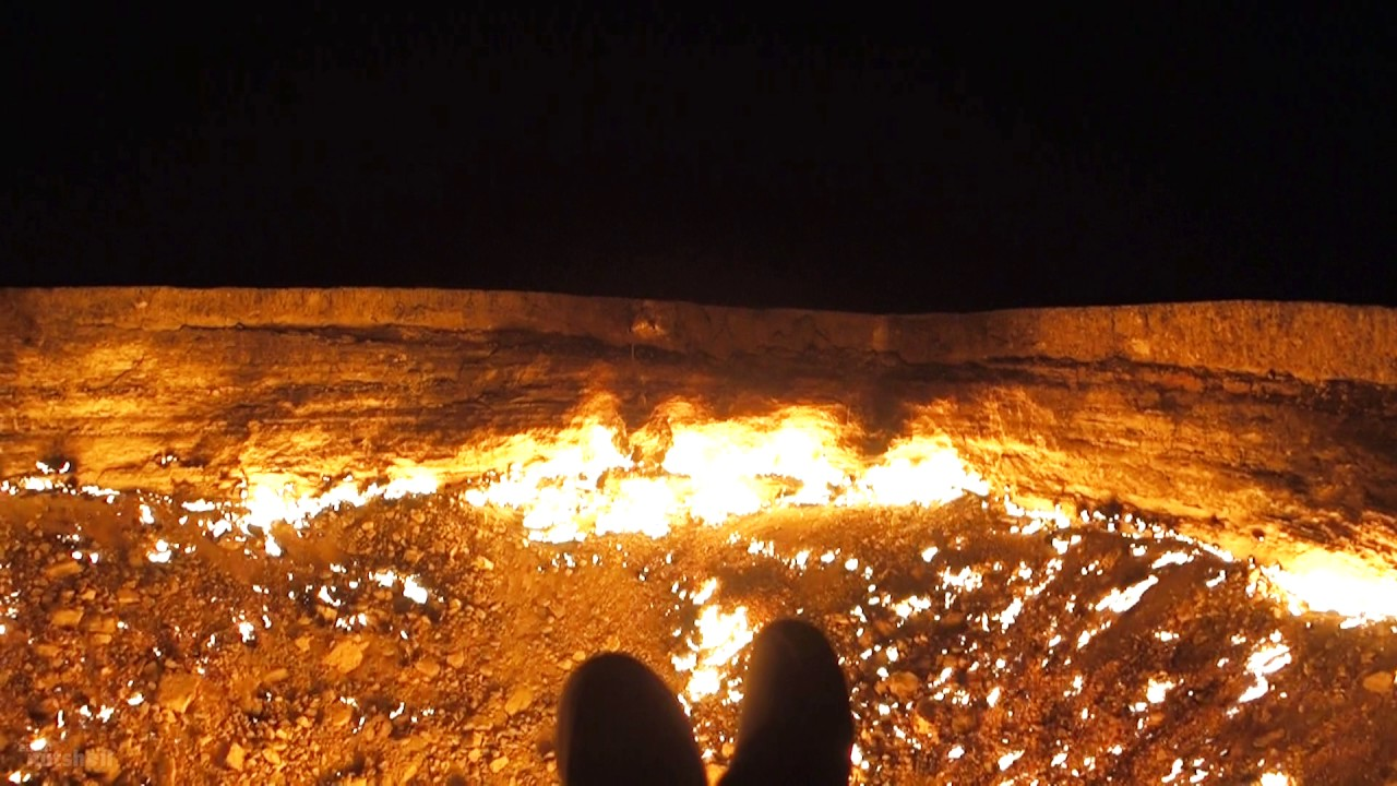 & Door To Hell - Darvaza Gas Crater Turkmenistan - YouTube