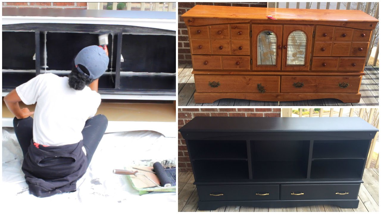 Diy entertainment center furniture makeover youtube solutioingenieria Gallery