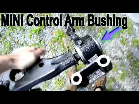 mini cooper suspension diagram autocad electrical wiring control arm bushing replacement youtube