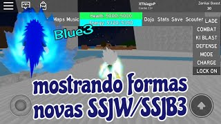 Showing new shapes SSW/SSJB3-Dragon Ball Rage/Roblox