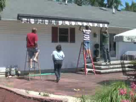 how to install a retractable awning youtube