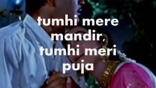 Tumhi Mere Mandir Karaoke & Lyrics Khandan