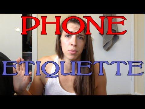 Phone Etiquette