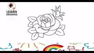 How To Draw A Rose l Easy Step by Step