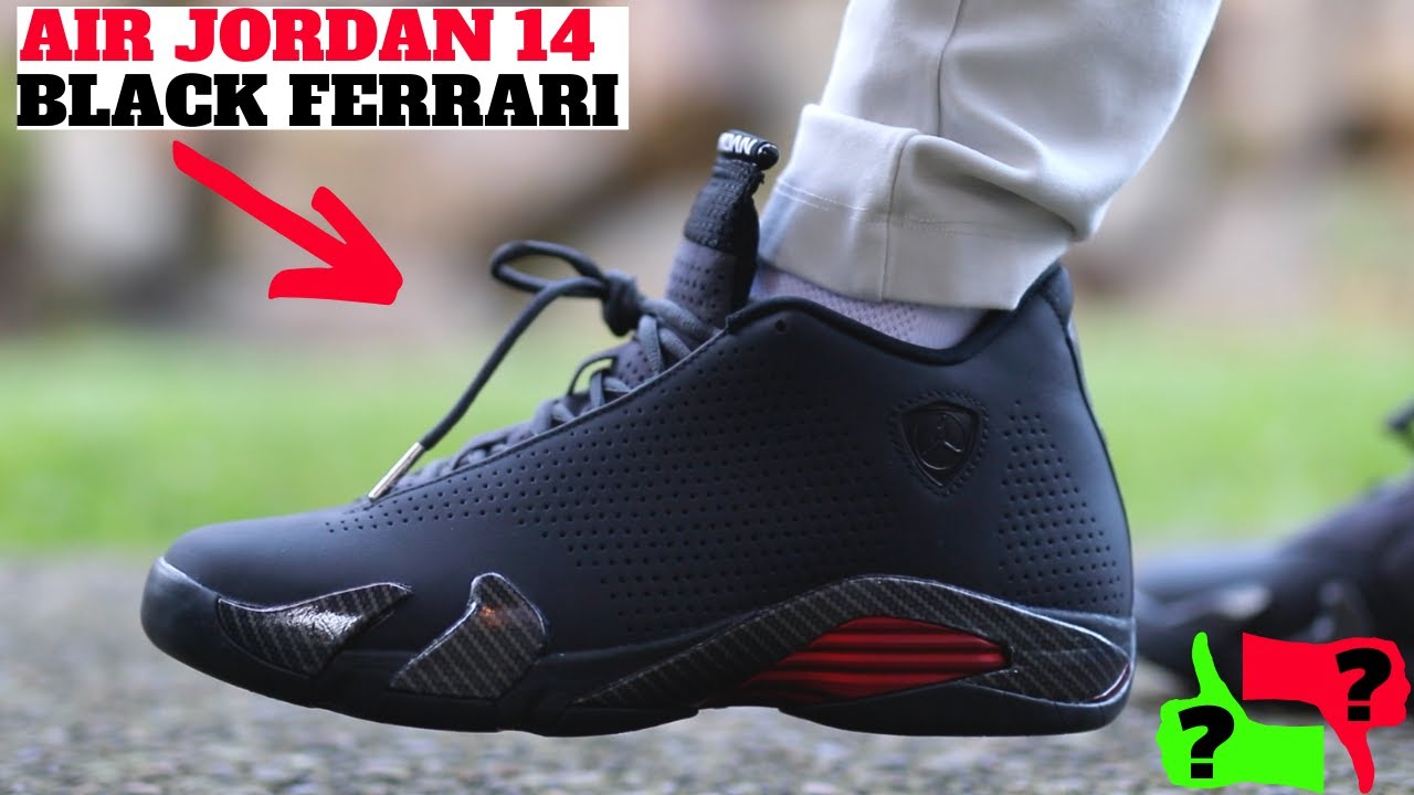 Worth Buying Air Jordan 14 Black Ferrari Review On Feet Youtube