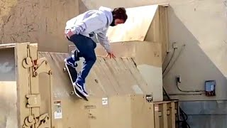 INSTABLAST! IMPOSSIBLE noseslide, bs 360 nosegrab to 5-0, TONY HAWK does a kickflip, dumpster dive