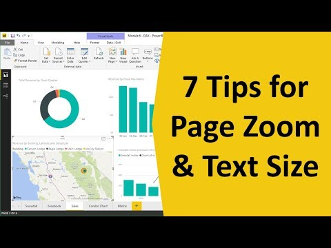 How to Change the Page Zoom and Text Size in Power BI Desktop