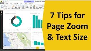 كيفية تغيير الصفحة تكبير حجم النص في السلطة BI