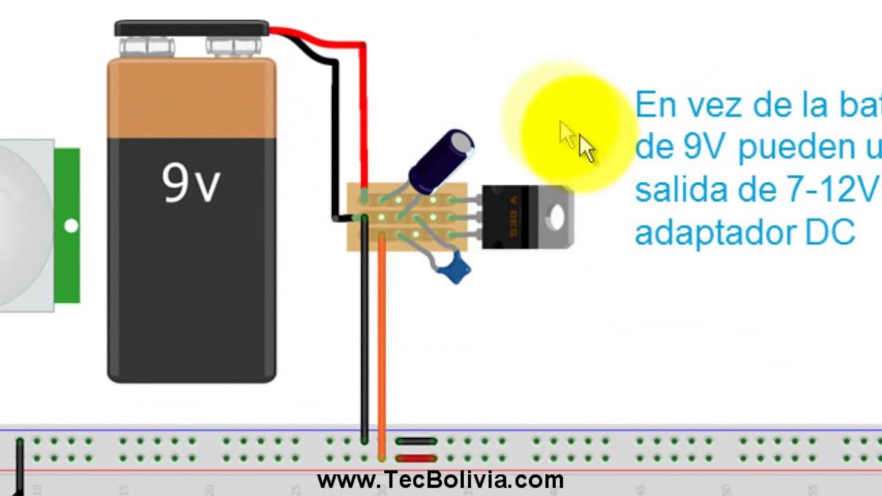 Luz autom tica con sensor de movimiento parte 1 youtube - Luz sensor movimiento ...