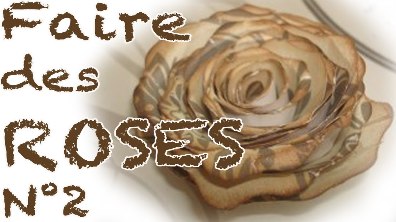 Comment faire des roses en papier partie 2 youtube - Faire des decoration de noel en papier ...