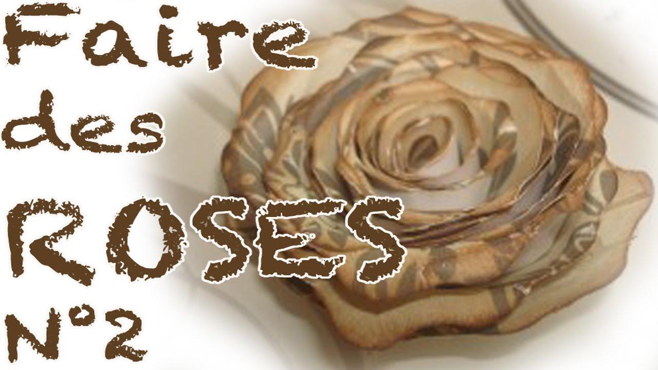 Comment faire des roses en papier PARTIE 2  YouTube