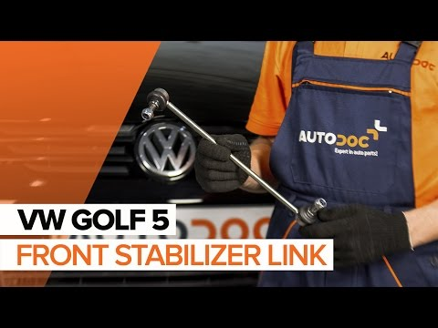 How to replace a Front Anti Roll Bar Link on VW GOLF 5 TUTORIAL | AUTODOC