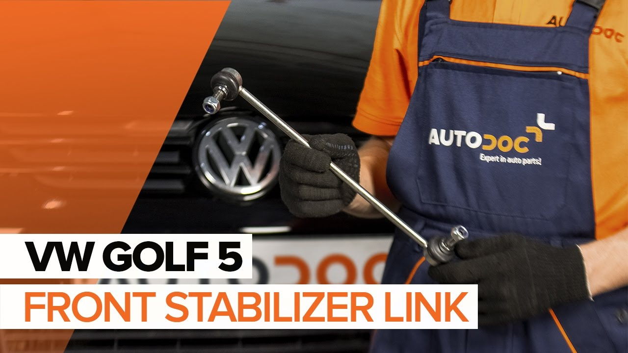 how to replace a front anti roll bar link on vw golf 5. Black Bedroom Furniture Sets. Home Design Ideas