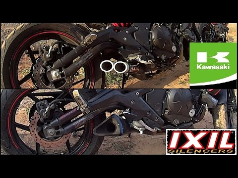 kawasaki er6n ixil x55 vs l3x hyperlow exhaust sound flyby. Black Bedroom Furniture Sets. Home Design Ideas