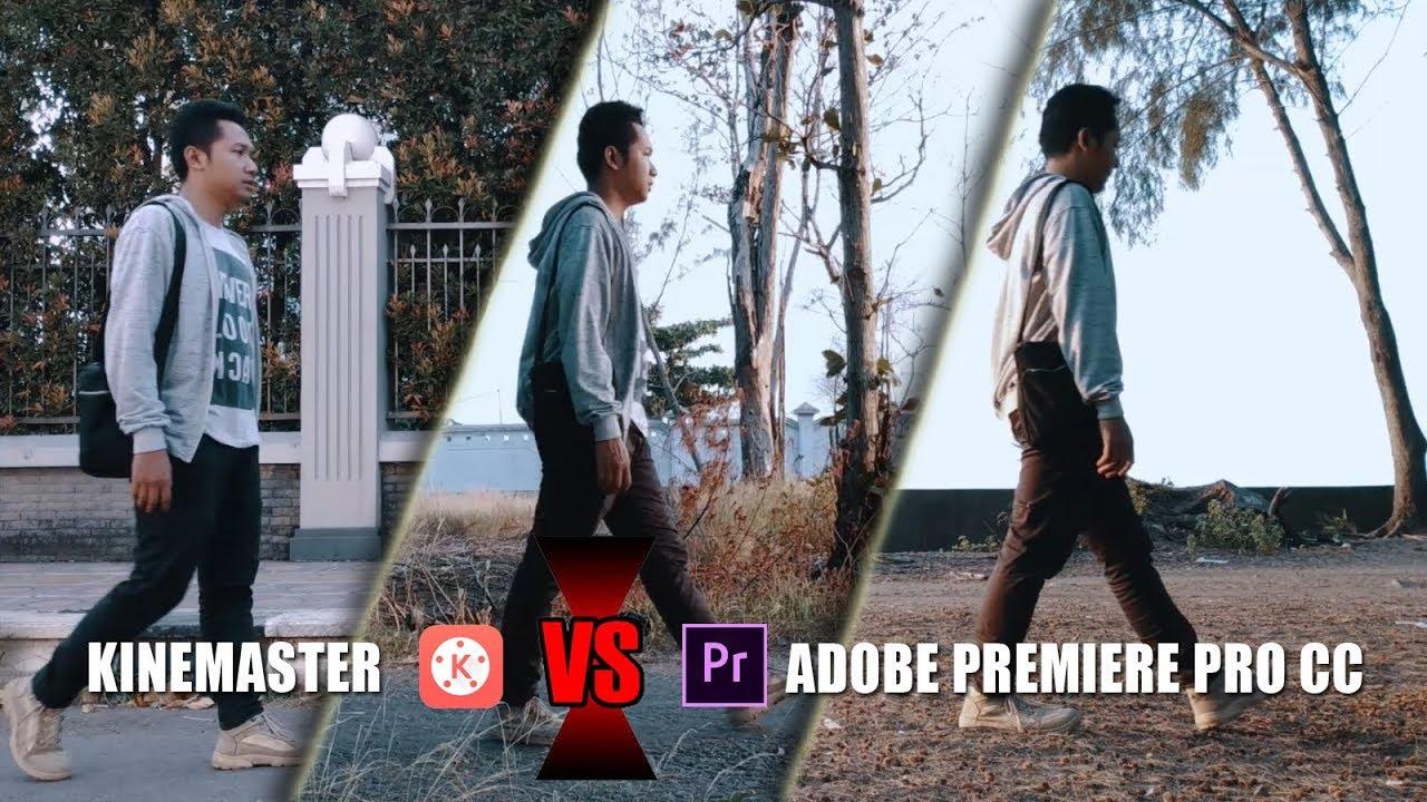 Cara Edit Video Berjalan Pindah Lokasi & Background (KINEMASTER VS ADOBE PREMIERE PRO CC)