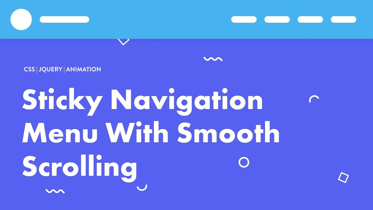 Sticky Navigation Menu With Smooth Scrolling | CSS JQuery | Speed Code