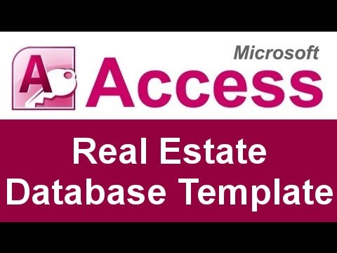 Microsoft Access Real Estate Database Template - YouTube