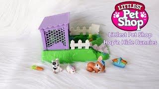 Vintage Littlest Pet Shop Hop'n Hide Bunnies - Pets on the Move! Kenner LPS